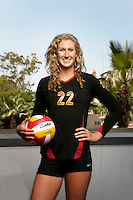 10 August 2010:  #22 Katie Fuller OH/OPP  on the Pac-10 NCAA College Women's Volleyball team for the USC Trojans Women of Troy photographed at the Galen Center on Campus in Southern California. .Images are for Personal use only.  No Model Release, No Property Release, No Commercial 3rd Party use. .Photo Credit should read: ©2010ShellyCastellano.com