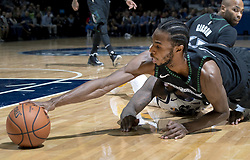 October 31, 2018 - Minneapolis, MN, USA - The Minnesota Timberwolves' Andrew Wiggins reaches out for a loose ball in the second quarter against the Utah Jazz at the Target Center in Minneapolis on Wednesday, Oct. 31, 2018. (Credit Image: © Carlos Gonzalez/Minneapolis Star Tribune/TNS via ZUMA Wire)