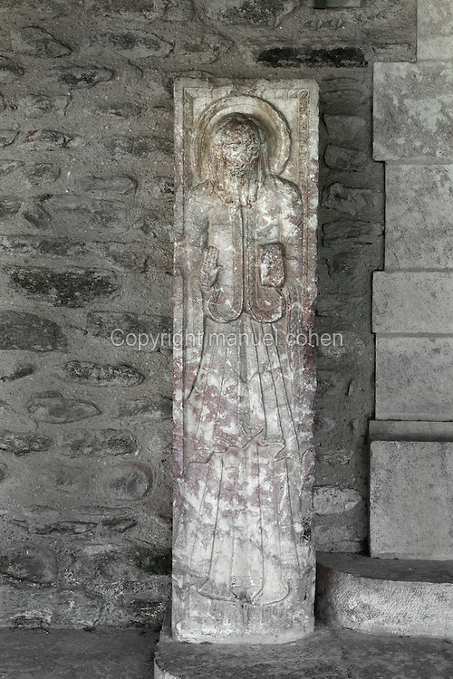 Saint Paul, piedroit from the former gallery, 12th century Benedictine Abbey of Saint Michel de Cuxa, Codalet, Pyrenees Orientales, France.  Picture by Manuel Cohen