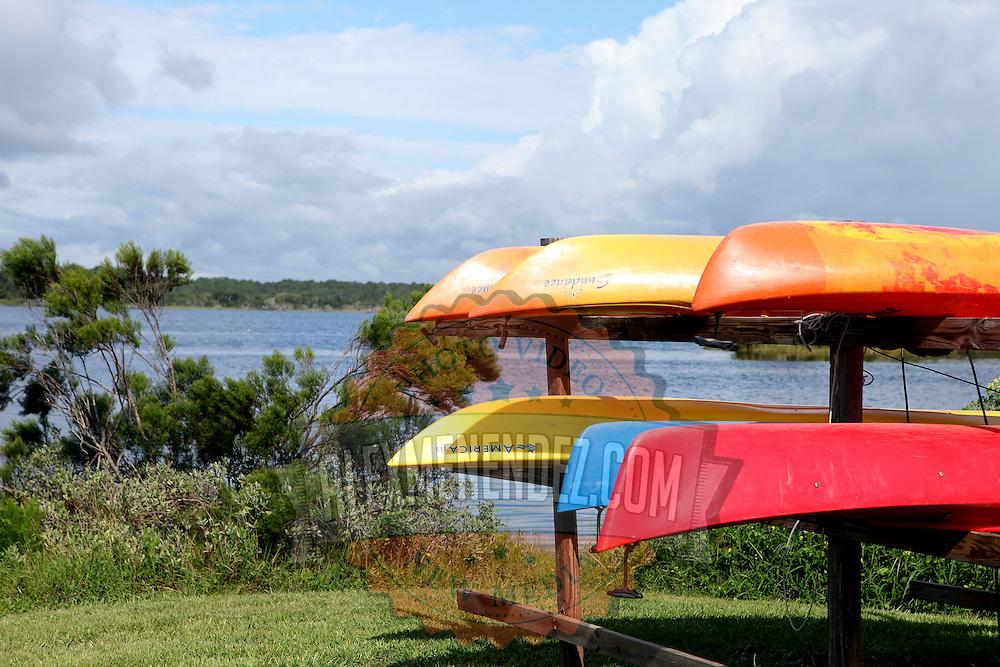 Tomoka River kayaks rest along the Ormond Beach Loop in Ormond Beach, Florida. (AP Photo/Alex Menendez) Florida scenic highway photos from the State of Florida. Florida scenic images of the Sunshine State.