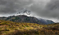 The highest summit in the national park the Cerro Paine Grande stands at 2,884 m.