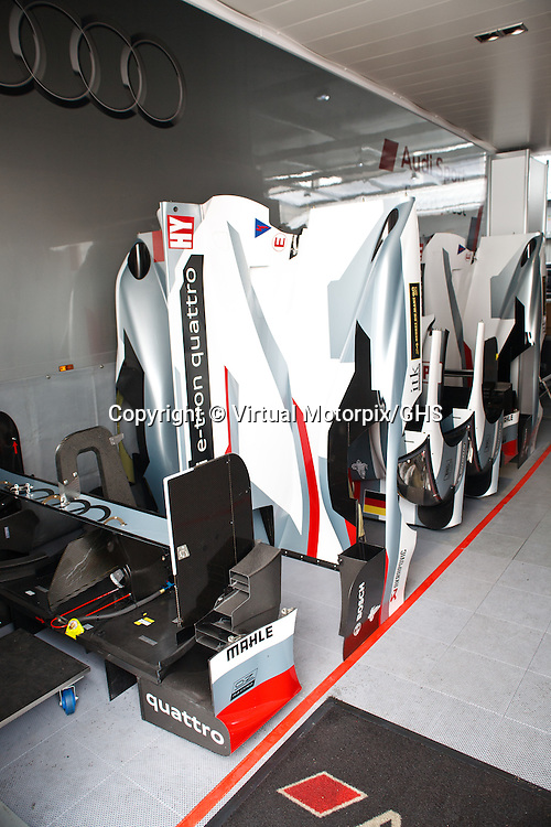 Audi Logistics at the Le Mans 24H in 2013