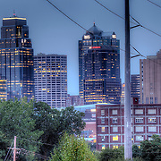 Downtown Kansas City skyline from along Troost Avenue on the east part of downtown.