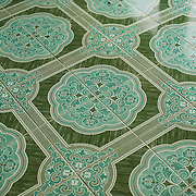 Ornate patterned tiles at Soon Oo Pon Nya Shin Pagoda. Sitting on top of Nga-pha Hill, Soon Oo Pon Nya Shin Pagoda is one of multiple pagodas and temples in the religious district of Sagaing, near Mandalay. The original pagoda dates to 674.
