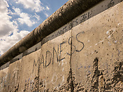 Part of the Berlin wall preserved at the Topography of Terror Museum in Berlin