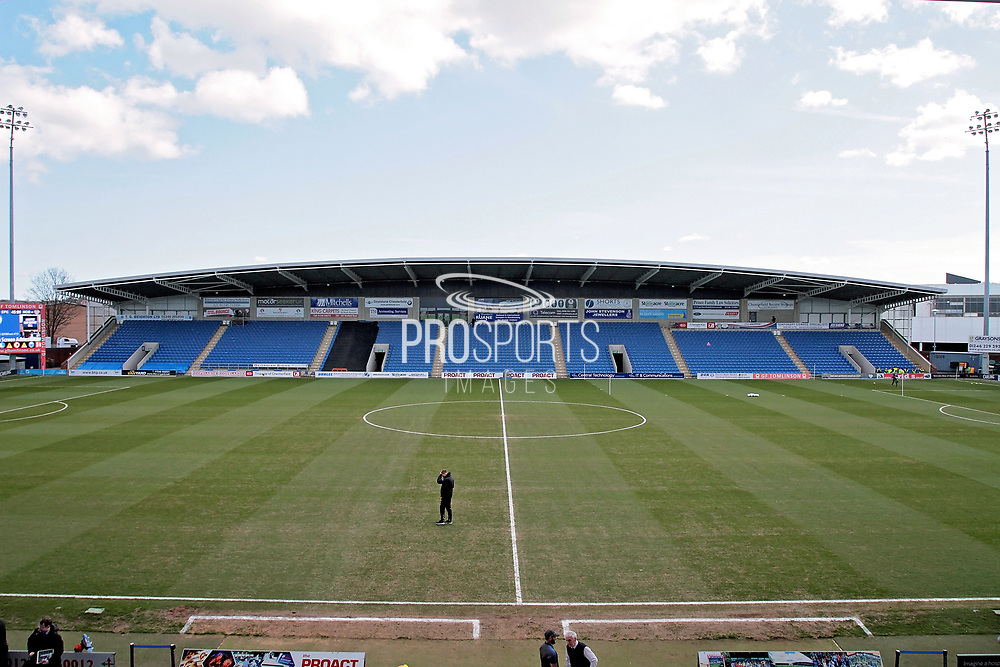 A stadium shot of the East Stand before the EFL Sky Bet League 2 match between Chesterfield and Notts County at the Proact stadium, Chesterfield, England on 25 March 2018. Picture by Nigel Cole.