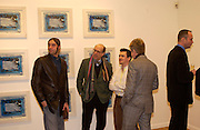 James Somerville, Stephen Somerville, Gerry Lane, Paul Fullman, Private view of 40 limited edition prints especially created by Howard Hodgkin for Elton John AIDS Foundation, Alan Christea Gallery, 6 February 2003. All proceeds from the evening benefit Elton John AIDS Foundation.© Copyright Photograph by Dafydd Jones 66 Stockwell Park Rd. London SW9 0DA Tel 020 7733 0108 www.dafjones.com