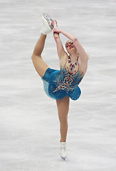 © Licensed to London News Pictures. 27/01/2017. Ostrava, CZ. Joshi HELGESSON, from Sweden, performs her Ladies Free Skating routine during the ISU European Figure Skating Championships in the Ostrava Arena in Ostrava, Czech Republic, on Friday January 27, 2017. Photo credit: Isabel Infantes/LNP