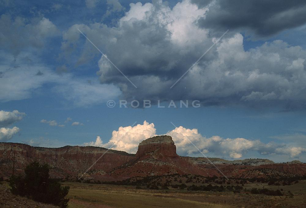Desert mountain bluff in Abiquiu New Mexico