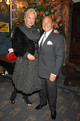 MR ARNOLD CROOK of the Theatre Royal Haymarket  and his wife JEANNE MANDRY at a gala evening preview of Edward Albee's The Lady from Dubuque in aid of Masterclass at The Theatre Royal, Haymarket, London on 19th March 2007<br />