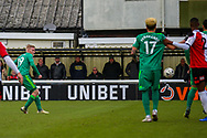 Goal!…Watford midfielder Will Hughes (19) scores the first goal during the The FA Cup 3rd round match between Woking and Watford at the Kingfield Stadium, Woking, United Kingdom on 6 January 2019.