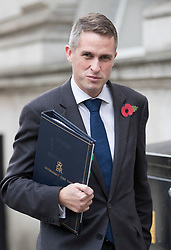 DATE CORRECTION © Licensed to London News Pictures. 31/10/2017. London, UK. Gavin Williamson, Conservative Party Chief Whip, arrives at Downing Street for a cabinet meeting. Photo credit: Peter Macdiarmid/LNP