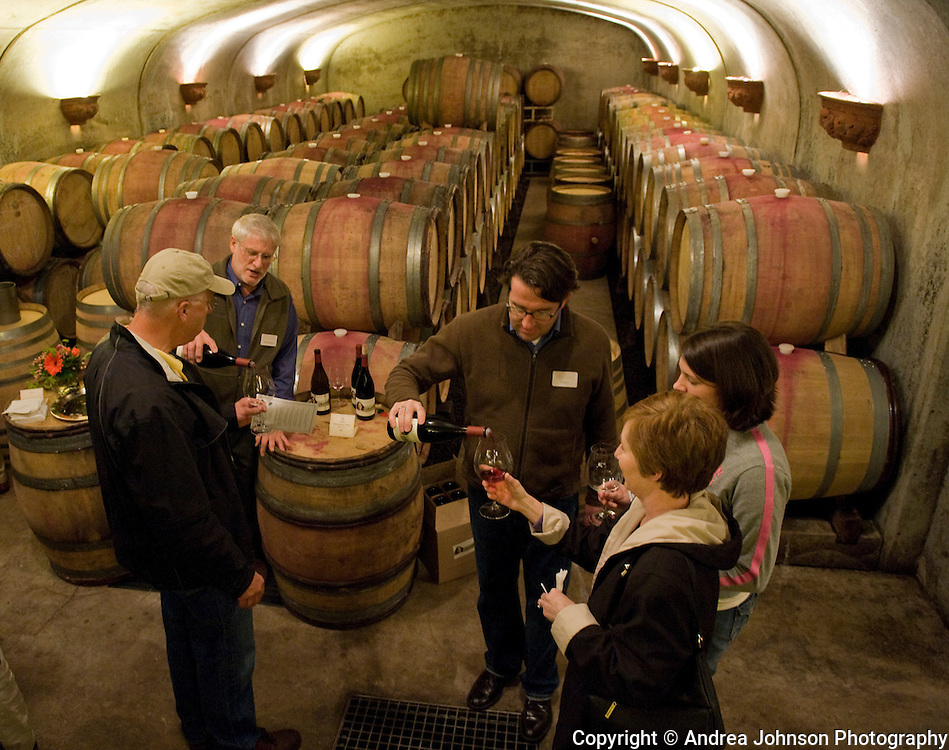 Special Barrel Room tasting for Memorial Day weekend at Adelsheim, Yamhill-Carlton AVA, Willamette Valley, Oregon