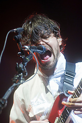 Simon Neil of Biffy Clyro headline Sunday night on the main stage..Sunday at Rockness 2012..©Michael Schofield..