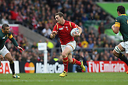 George North of Wales running with the ball. Rugby World Cup 2015 quarter final match, South Africa v Wales at Twickenham Stadium in London, England  on Saturday 17th October 2015.<br /> pic by  John Patrick Fletcher, Andrew Orchard sports photography.