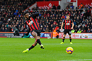 Jefferson Lerma (8) of AFC Bournemouth shoots at goal and misses the target during the Premier League match between Bournemouth and West Ham United at the Vitality Stadium, Bournemouth, England on 19 January 2019.