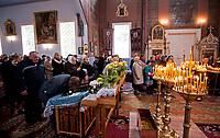 14.10.2015 wies Puchly woj podlaskie Swieto Opieki Matki Bozej ( Pokrowa ) n/z wierni w cerkwi fot Michal Kosc / AGENCJA WSCHOD