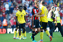Micah Richards of Aston Villa celebrates winning their opening game - Mandatory by-line: Jason Brown/JMP - Mobile 07966 386802 08/08/2015 - FOOTBALL - Bournemouth, Vitality Stadium - AFC Bournemouth v Aston Villa - Barclays Premier League - Season opener