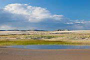 Killpecker Dunes in the Red Desert of Wyoming with temporary pond