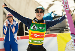Winner Ryoyu Kobayashi (JPN) celebrates at trophy ceremony after the Ski Flying Hill Individual Competition at Day 4 of FIS Ski Jumping World Cup Final 2019, on March 24, 2019 in Planica, Slovenia. Photo by Vid Ponikvar / Sportida