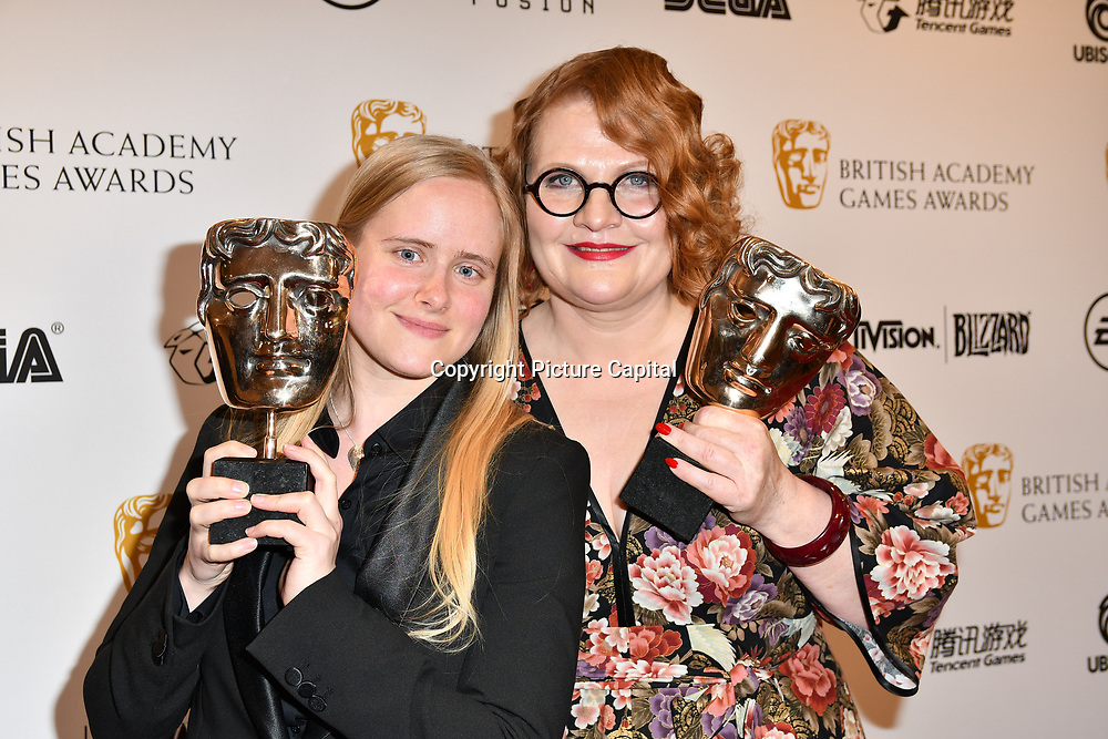Winner: My Child Lebensborn by Catharina Bohler and Elin Festoy  at the British Academy (BAFTA) Games Awards at Queen Elizabeth Hall, Southbank Centre  on 4 March 2019, London, UK.