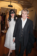 Nefer Suvio; Nick Rhodes, Isabella Blow: Fashion Galore! private view, Somerset House. London. 19 November 2013