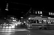 This image was finally captured after hours of watching the TTC streetcars pass back and forth on the corner of Queen and Peter. I wanted to portray movement in clarity juxtaposed with stationary objects blurred.