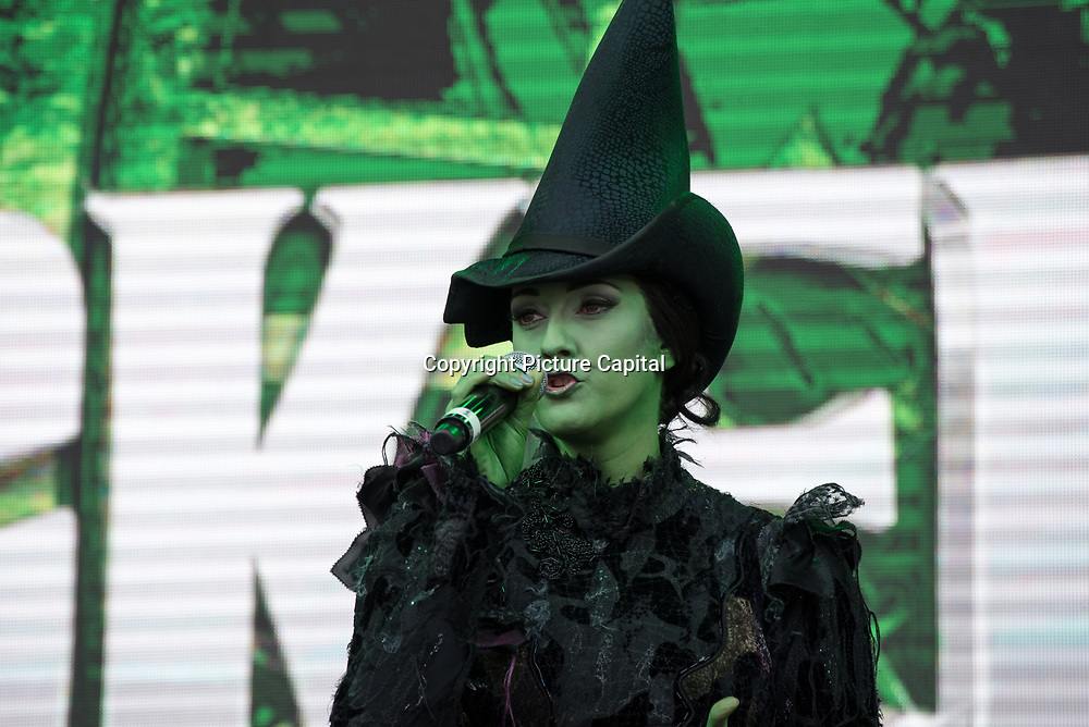 Wicked on stage at West End Live on June 16 2018  in Trafalgar Square, London.