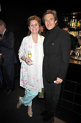 "VICTORIA MATHER and NIGEL HAVERS at a party to promote the ""American Songbook in London"" aseries of intimate concerts featuring 1959 Broadway songs, held at Pizza on The Park, Hyde Park Corner, London on 18th March 2009."
