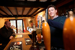 UK ENGLAND HURSTBOURNE TARRANT 9SEP16 - Publican Adam Vella (26) pours a pint at the George and Dragon pub in Hurstbourne Tarrant, westcountry, England.<br /> <br /> jre/Photo by Jiri Rezac<br /> <br /> © Jiri Rezac 2016