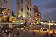 Israel, Tel Aviv The beach at night