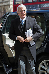 © Licensed to London News Pictures. 03/05/2016. LONDON, UK.  JOHN MAJOR arrives at a service of Thanksgiving for the life and work of former Chancellor of the Exchequer, Rt Hon The Lord Geoffrey Howe of Aberavon CH PC QC at St Margaret's Church, Westminster Abbey.  Photo credit: Vickie Flores/LNP