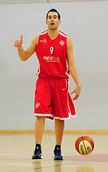 Bristol Academy Flyers' Fran Robles organises the offence - Photo mandatory by-line: Dougie Allward/JMP - Tel: Mobile: 07966 386802 23/03/2013 - SPORT - Basketball - WISE Basketball Arena - SGS College - Bristol -  Bristol Academy Flyers V Essex Leopards