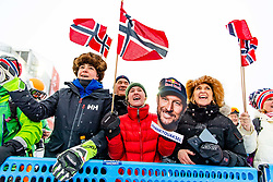 February 9, 2019 - Re, SWEDEN - 190209 Fans of Norway at men's downhill during the FIS Alpine World Ski Championships on February 9, 2019 in re..Photo: Joel Marklund / BILDBYRN / kod JM / 87853 (Credit Image: © Joel Marklund/Bildbyran via ZUMA Press)