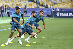 May 25, 2018 - Kiev, Ukraine - Real Madrid players are seen during their training session for UEFA Champions League Final against Liverpool FC at NSC Olimpiyskyi in Kyiv, Ukraine, May 25, 2018. UEFA Champions League Final  (Credit Image: © Sergii Kharchenko/NurPhoto via ZUMA Press)