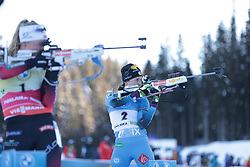 14.02.2021, Center Pokljuka, Pokljuka, SLO, IBU Weltmeisterschaften Biathlon, Sprint, Damen, im Bild chevalier boichet (anais) (fra), eckhoff (tiril) (nor) // during womens Sprint competition of IBU Biathlon World Championships at the Center Pokljuka in Pokljuka, Slovenia on 2021/02/14. EXPA Pictures © 2021, PhotoCredit: EXPA/ Pressesports/ Frederic Mons<br /> <br /> *****ATTENTION - for AUT, SLO, CRO, SRB, BIH, MAZ, POL only*****