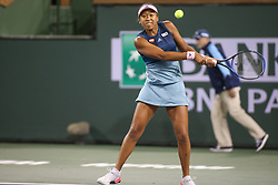March 10, 2019 - Indian Wells, CA, U.S. - INDIAN WELLS, CA - MARCH 09: Naomi Osaka (JPN) hits a backhand during the BNP Paribas Open on March 9, 2019 at Indian Wells Tennis Garden in Indian Wells, CA. (Photo by George Walker/Icon Sportswire) (Credit Image: © George Walker/Icon SMI via ZUMA Press)
