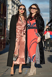 Boba K and Victoria El Khoury during London Fashion Week Autumn/Winter 2017 in London.  Picture date: Friday 17th February 2017. Photo credit should read: DavidJensen/EMPICS Entertainment