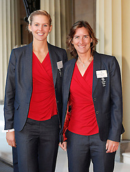 British Olympic rowers Katharine Grainger (right) and Victoria Thornley arrive for a reception for Team GB and ParalympicsGB medallists hosted by Queen Elizabeth II at Buckingham Palace in London.
