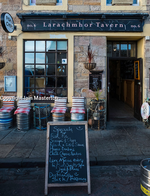 Larachmhor Tavern in Pittenweem on East Neuk of Fife in Scotland, United Kingdom.