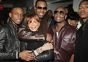 l to r: Hal Linton, Sylvia Rhone, Busta Ryhmes, Ron Browz and Nick Cannon at The Vibe Magazine Presents Vsessions Live! Hosted by the Fabulous Toccara featuring Hal Linton, Suai and Ron Browz held at Joe's Pub on February 25, 2009 in NYC
