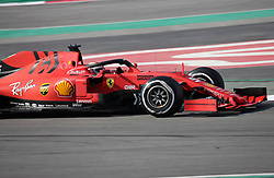 March 1, 2019 - Barcelona, Catalonia, Spain - the Ferrari of Sebastian Vettel during the Formula 1 test in Barcelona, on 01st March 2019, in Barcelona, Spain. (Credit Image: © Joan Valls/NurPhoto via ZUMA Press)