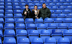 Birmingham City's fans get ready to face Brentford before the match at St Andrew's Trillion Trophy Stadium