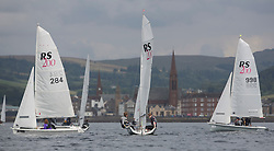 Caledonia MacBrayne Largs Regatta Week 2016<br /> <br /> RS200 fleet in the Largs Channel<br /> <br /> Credit Marc Turner / PFM Pictures.co.uk