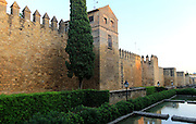 Exterior view from outside of old city wall Cordoba, Spain