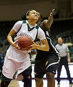 Alia Frank (22) of Mississippi Valley State University drives to the basket against Arkansas-Pine Bluff during the SWAC semi-finals at the Curtis Culwell Center in Garland on Friday, March 15, 2013. (Cooper Neill/The Dallas Morning News)