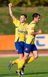 Dalibor Radujko of Koper and Nebojsa Kovacevic of Koper at football match of 16th Round of First Slovenian League between NK Olimpija and Luka Koper, on October 31, 2009, in ZAK, Ljubljana, Slovenia.  Koper won 1:0. (Photo by Vid Ponikvar / Sportida)
