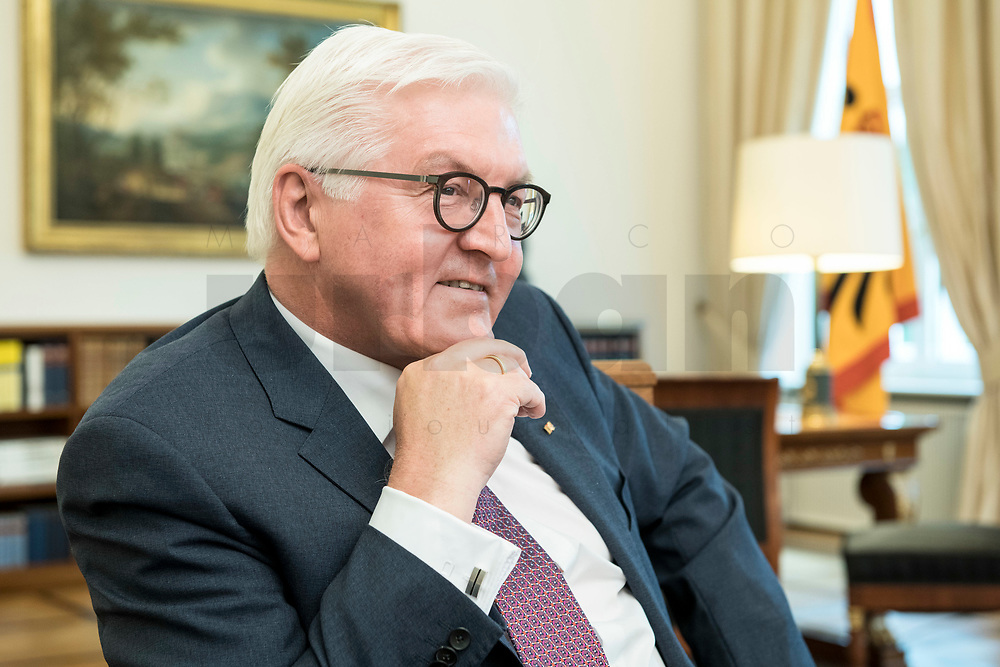 02 JUL 2018, BERLIN/GERMANY:<br /> Frank-Walter Steinmeier, Bundespraesident, waehrend einem Interview, Amtszimmer des Bundespraesidenten, Schloss Bellevue<br /> IMAGE: 20180702-01-022<br /> KEYWORDS: Bundespräsident