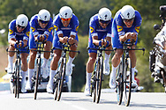 Team QuickStep during the Tour de France 2018, Stage 3, Team Time Trial, Cholet-Cholet (35 km) on July 9th, 2018 - Photo Luca Bettini/ BettiniPhoto / ProSportsImages / DPPI