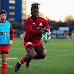 Rotimi Segun of Saracens  - Mandatory by-line: Nick Browning/JMP - 26/02/2021 - RUGBY - Butts Park Arena - Coventry, England - Coventry Rugby v Saracens - Friendly